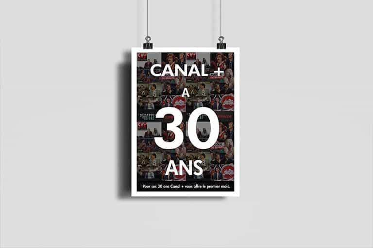 Canal + (30ans), Création d'affiche