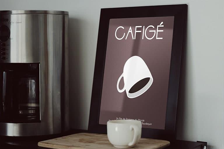 Court métrage Cafigé, Création d'affiche