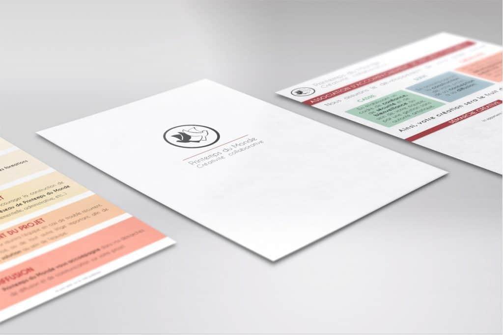 Création de Flyer pour l'association Printemps du Monde