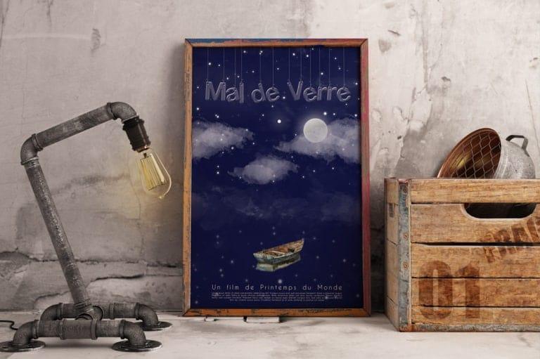 Court métrage Mal de Verre, Création d'affiche