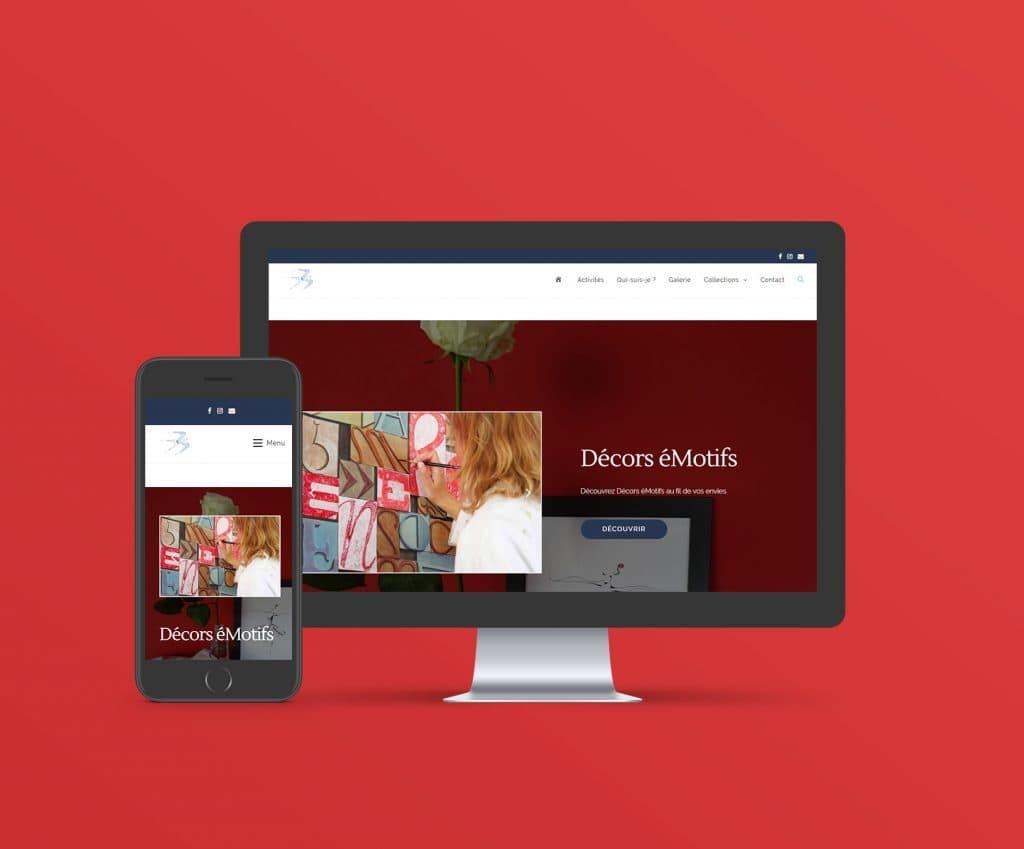 Decors-eMotifs création site WordPress responsive