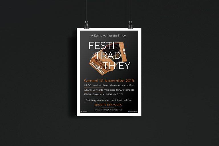 Festi Trad du Thiey, Création d'affiche pour l'association MEYLI-MEYLO