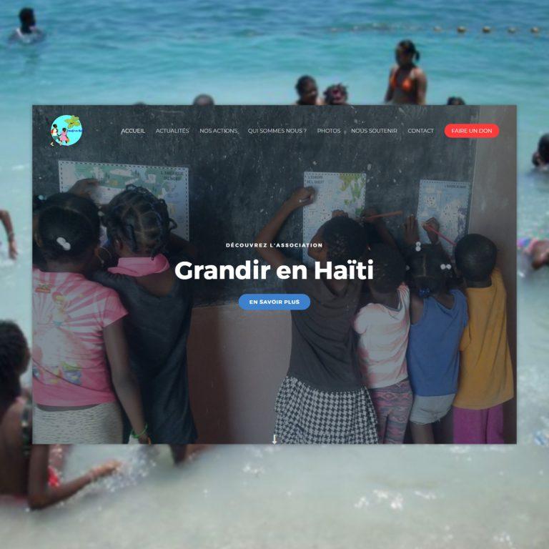 Refonte de Site Internet, Grandir en Haïti – Association…