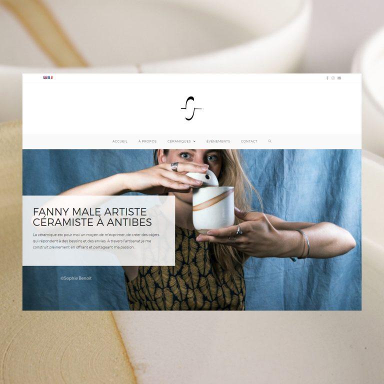 Création de Site Internet, FannyMale – Artiste Céramiste