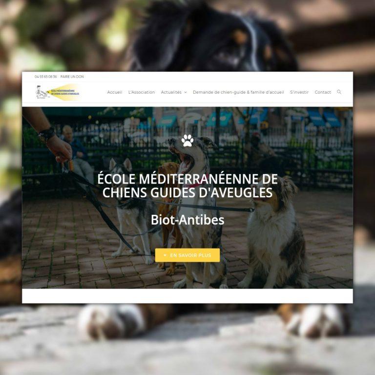 Refonte de Site Internet, E.M.C.G.A – École Méditerranéenne de Chiens-Guides d'Aveugles