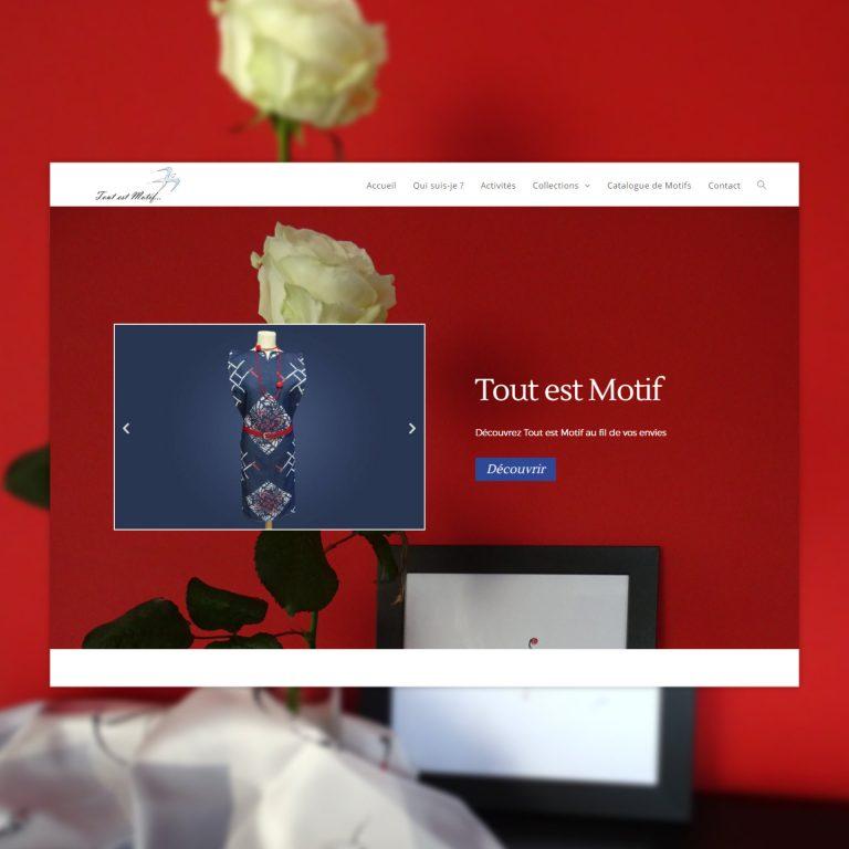 Création de Site Internet, Tout est Motif – Artiste, Créatrice, Motifs